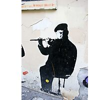 Graffiti Musician Photographic Print