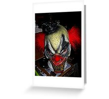 Evil Clown Greeting Card