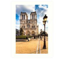 Notre Dame de Paris Facade Art Print