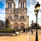 Notre Dame de Paris Facade by Mark Tisdale