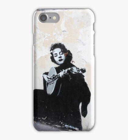 Female Guitar Player iPhone Case/Skin