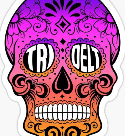 Tri Delt Sugar Skull Sticker