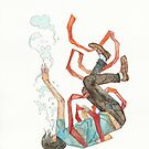 Burdened - sinking swimming ribbon  by Jaime Hernandez