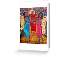 Angels Rescued Me Greeting Card