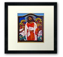 Jesus with Lamb Framed Print