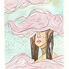 Stacking Clouds - pink clouds fashion girl by Jaime Hernandez