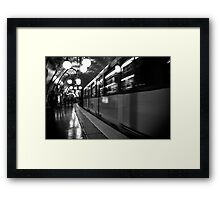 Travel BW - Paris Metro Framed Print