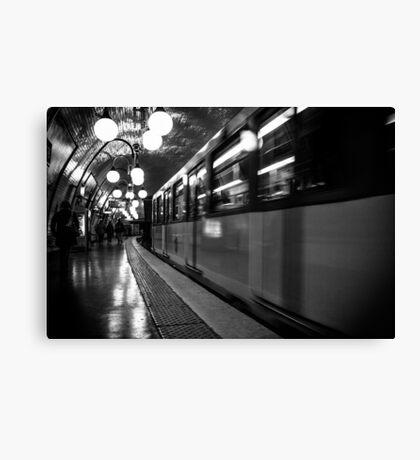 Travel BW - Paris Metro Canvas Print