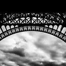 Travel BW - Paris Eiffel Tower IV by lesslinear