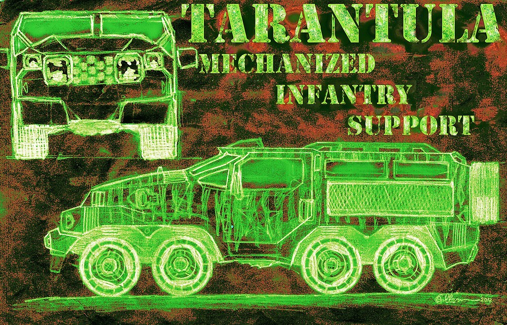 Tarantula - Mechanized Infantry Support by Cameron Bullen