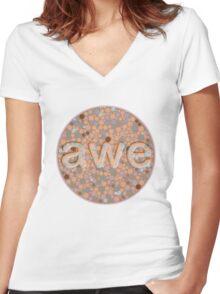 Awe Original Women's Fitted V-Neck T-Shirt