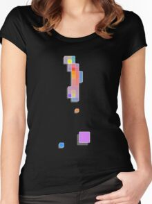Coloured Squares Women's Fitted Scoop T-Shirt