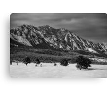 Flatirons in the Snow Canvas Print