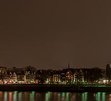 Cologne panorama by night by Markus Landsmann