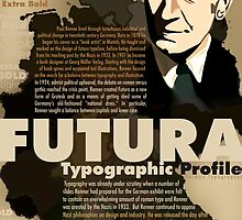 Paul Renner Futura Typography by Tiffany Muff