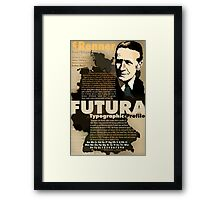 Paul Renner Futura Typography Framed Print