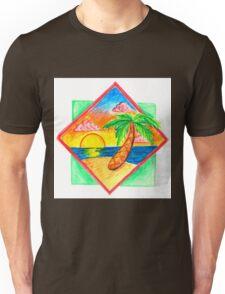 Miami Beach 80s Palm Tree Unisex T-Shirt