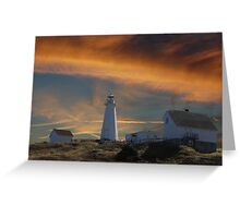 Sunset At Cape Spear Newfoundland Canada(best viewed larger) Greeting Card