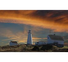 Sunset At Cape Spear Newfoundland Canada(best viewed larger) Photographic Print