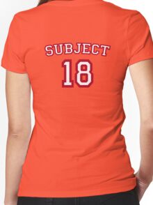 Subject 18 Women's Fitted V-Neck T-Shirt
