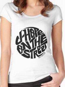 J-Hope - BTS Member Logo Series (Black) Women's Fitted Scoop T-Shirt