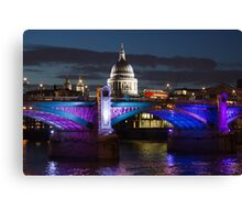 Southwark bridge and St Pauls Cathedral Canvas Print