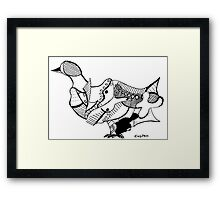 Duck (Puzzle Print) Framed Print