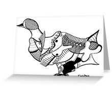Duck (Puzzle Print) Greeting Card