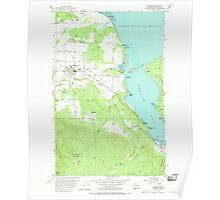 USGS Topo Map Washington State WA Sequim 243666 1956 24000 Poster