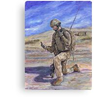 British Soldier Helmand Afghanistan Canvas Print