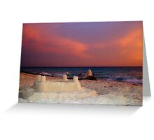 """Aruba Beach Sandcastle""  by Carter L. Shepard Greeting Card"
