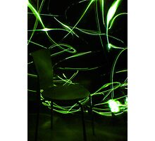 Chair - Green Photographic Print