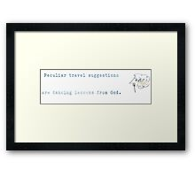 dancing lessons from god Framed Print