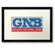 Goliath National Bank Framed Print