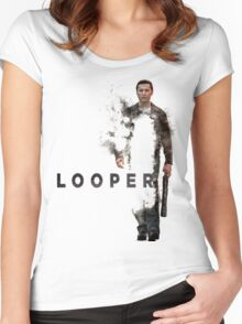 LOOPER Poster Women's Fitted Scoop T-Shirt