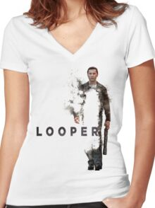 LOOPER Poster Women's Fitted V-Neck T-Shirt