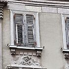 Decorative Windows in Pula, Croatia by lynn carter
