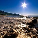 Sun Star Over The Sea by Kuzeytac