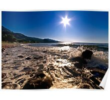 Sun Star Over The Sea Poster