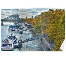 Rhine Promenade in autumn Poster