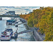 Rhine Promenade in autumn Photographic Print