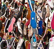 Hanged Colorful Sport Shoes by Kuzeytac