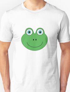 cute green frog face Unisex T-Shirt