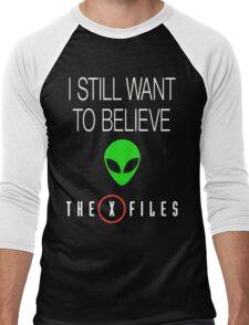 X-File Still Want To Believe Alien Head Men's Baseball ¾ T-Shirt