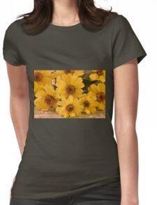 Yellow Toto Lemon Rudbeckia Womens Fitted T-Shirt
