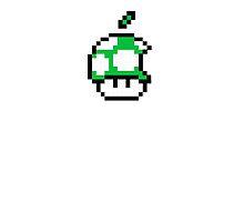 1up Apple Logo by Jonlynch