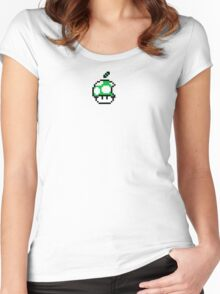 1up Apple Logo Women's Fitted Scoop T-Shirt