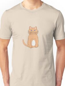 cute brown and white kitty cat or kitten Unisex T-Shirt