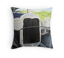 Dads Model A Ford Throw Pillow