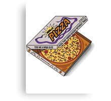 Ninja Pizza - Genius Canvas Print